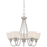 Dublin 5 Light 26 inch Brushed Nickel Chandelier Ceiling Light