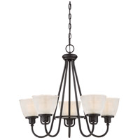 Dublin 5 Light 26 inch Mystic Black Chandelier Ceiling Light