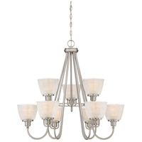 Dublin 9 Light 32 inch Brushed Nickel Chandelier Ceiling Light, Two Tier