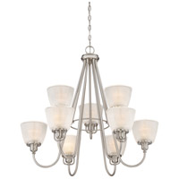 Quoizel DBN5009BN Dublin 9 Light 32 inch Brushed Nickel Chandelier Ceiling Light, Two Tier alternative photo thumbnail