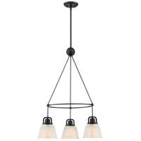 Dublin 3 Light 23 inch Mystic Black Dinette Chandelier Ceiling Light