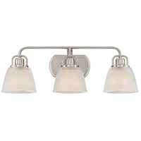 Dublin 3 Light 25 inch Brushed Nickel Bath Light Wall Light in A19 Medium Base