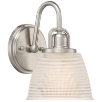 Dublin 1 Light 7 inch Brushed Nickel Bath Light Wall Light