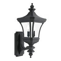 Quoizel Lighting Devon 2 Light Outdoor Wall Lantern in Mystic Black DE8309K
