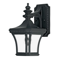 Quoizel Devon 1 Light Outdoor Wall Lantern in Mystic Black DE8407KFL