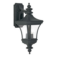 Quoizel Lighting Devon 2 Light Outdoor Wall Lantern in Mystic Black DE8409K
