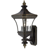Quoizel Lighting Devon 3 Light Outdoor Wall Lantern in Imperial Bronze DE8960IB