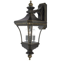 Quoizel Lighting Devon 3 Light Outdoor Wall Lantern in Imperial Bronze DE8961IB