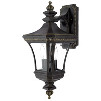 Quoizel Lighting Devon 2 Light Outdoor Wall Lantern in Imperial Bronze DE8976IB