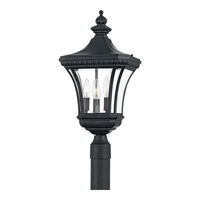 Quoizel Lighting Devon 3 Light Outdoor Post Lantern in Mystic Black DE9011K