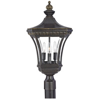 Quoizel Lighting Devon 3 Light Outdoor Post Lantern in Imperial Bronze DE9256IB photo thumbnail