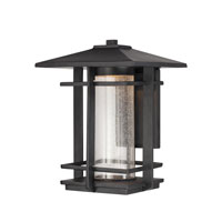 Quoizel Lighting Destin Outdoor Wall Lantern in Mystic Black DEN8510K