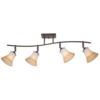 Duchess 4 Light 120vAC Palladian Bronze Ceiling Track Light Ceiling Light in Champagne Marble Glass