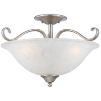 Quoizel Lighting Duchess 3 Light Semi-Flush Mount in Antique Nickel DH1718AN