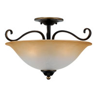Quoizel DH1718PN Duchess 3 Light 17 inch Palladian Bronze Semi-Flush Mount Ceiling Light alternative photo thumbnail