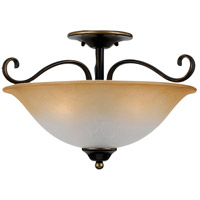Quoizel Lighting Duchess 3 Light Semi-Flush Mount in Palladian Bronze DH1718PN