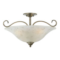 Quoizel Lighting Duchess 3 Light Semi-Flush Mount in Antique Nickel DH1722AN