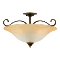 Quoizel Lighting Duchess 3 Light Semi-Flush Mount in Palladian Bronze DH1722PN