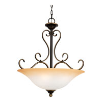 Quoizel DH2820PN Duchess 4 Light 20 inch Palladian Bronze Pendant Ceiling Light in Champagne Marble Glass