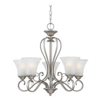Quoizel DH5005AN Duchess 5 Light 25 inch Antique Nickel Chandelier Ceiling Light in Grey Marble Glass alternative photo thumbnail
