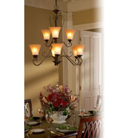 Quoizel DH5009PN Duchess 9 Light 31 inch Palladian Bronze Chandelier Ceiling Light in Champagne Marble Glass alternative photo thumbnail