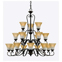 Quoizel DH5018PN Duchess 18 Light 41 inch Palladian Bronze Chandelier Ceiling Light in Champagne Marble Glass