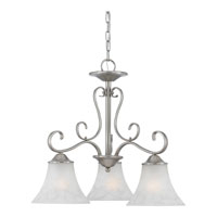 Quoizel DH5103AN Duchess 3 Light 23 inch Antique Nickel Chandelier Ceiling Light in Grey Marble Glass alternative photo thumbnail