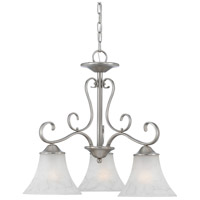 Duchess 3 Light 23 inch Antique Nickel Chandelier Ceiling Light in Grey Marble Glass