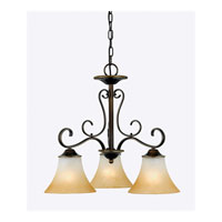 Quoizel DH5103PN Duchess 3 Light 23 inch Palladian Bronze Chandelier Ceiling Light in Champagne Marble Glass alternative photo thumbnail