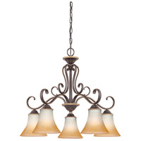 Quoizel Lighting Duchess 5 Light Chandelier in Palladian Bronze DH5105PN