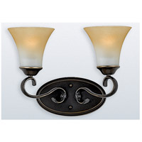 Duchess 2 Light 16 inch Palladian Bronze Bath Light Wall Light in Champagne Marble Glass