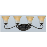Duchess 4 Light 32 inch Palladian Bronze Bath Light Wall Light in Champagne Marble Glass