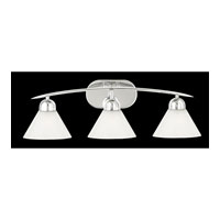Demitri 3 Light 26 inch Polished Chrome Bath Light Wall Light in White Seedy Sandstone Glass