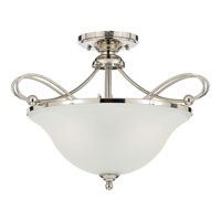 Quoizel Lighting Denmark 3 Light Semi-Flush Mount in Imperial Silver DK1720IS photo thumbnail