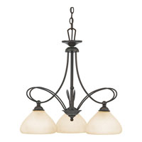 Quoizel Lighting Denmark 3 Light Chandelier in Teco Marrone DK5103TM photo thumbnail
