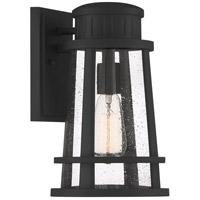 Quoizel DNM8408EK Dunham 1 Light 13 inch Earth Black Outdoor Wall Lantern