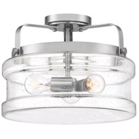 Quoizel DNY1714BN Danbury 3 Light 14 inch Brushed Nickel Semi-Flush Mount Ceiling Light