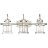 Danbury 3 Light 24 inch Brushed Nickel Bath Light Wall Light