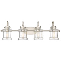 Quoizel DNY8604BN Danbury 4 Light 32 inch Brushed Nickel Bath Light Wall Light
