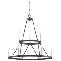 Quoizel DOR5009MB Doran 9 Light 28 inch Mottled Black Chandelier Ceiling Light
