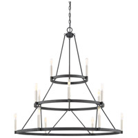 Doran 15 Light 40 inch Mottled Black Chandelier Ceiling Light