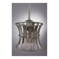 Quoizel Lighting Darian 1 Light Mini Pendant in Fossil Grey DRN1507FG alternative photo thumbnail
