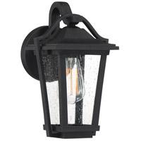 Quoizel DRS8407EK Darius 1 Light 12 inch Earth Black Outdoor Wall Light