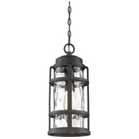 DeSoto 1 Light 9 inch Palladian Bronze Outdoor Hanging Lantern