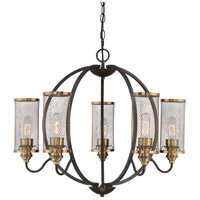 Quoizel DTN5005WT Denton 5 Light 29 inch Western Bronze Chandelier Ceiling Light 5 Arms