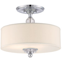 Downtown 3 Light 17 inch Polished Chrome Semi-Flush Mount Ceiling Light