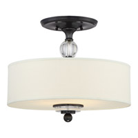 Downtown 3 Light 17 inch Dusk Bronze Semi-Flush Mount Ceiling Light