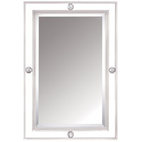 Downtown 32 X 22 inch Brushed Nickel Mirror Home Decor