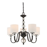 Quoizel DW5005D Downtown 5 Light 28 inch Dusk Bronze Chandelier Ceiling Light