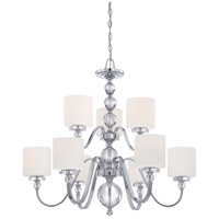 Quoizel Lighting Downtown 9 Light Chandelier in Polished Chrome DW5009C